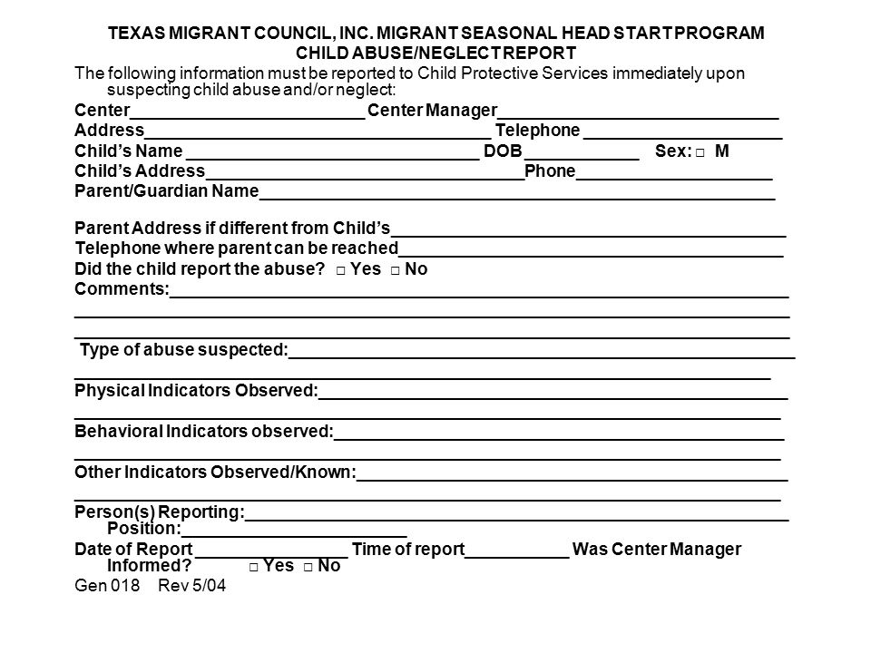 TEXAS MIGRANT COUNCIL, INC. MIGRANT SEASONAL HEAD START PROGRAM