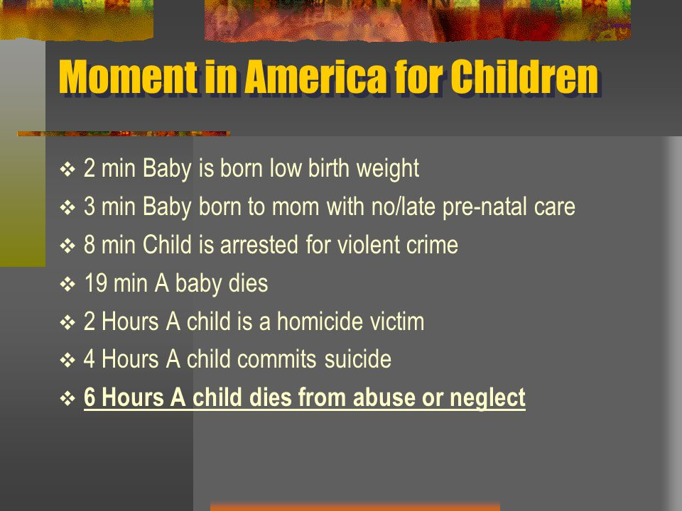 Moment in America for Children