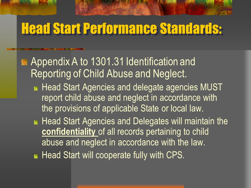 Head Start Performance Standards: