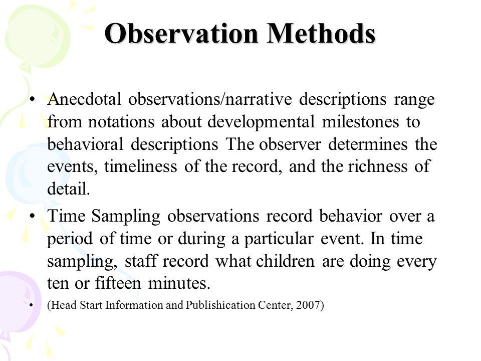 Observation Methods