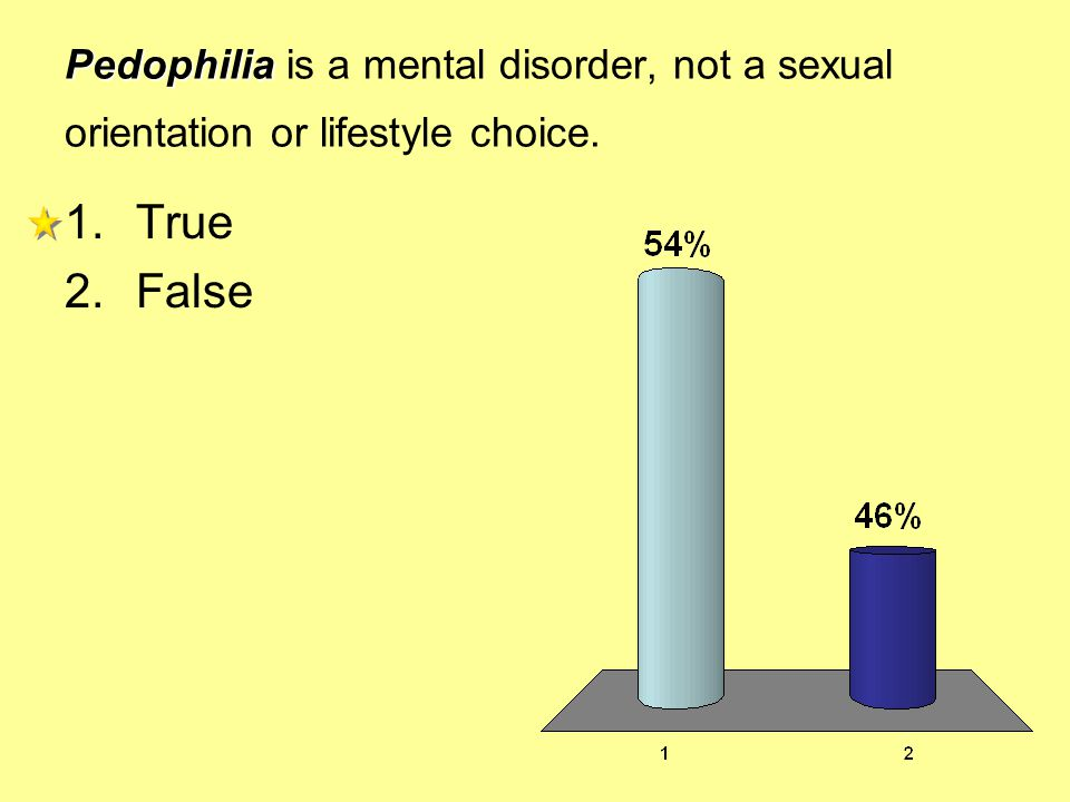 Pedophilia is a mental disorder, not a sexual orientation or lifestyle choice.