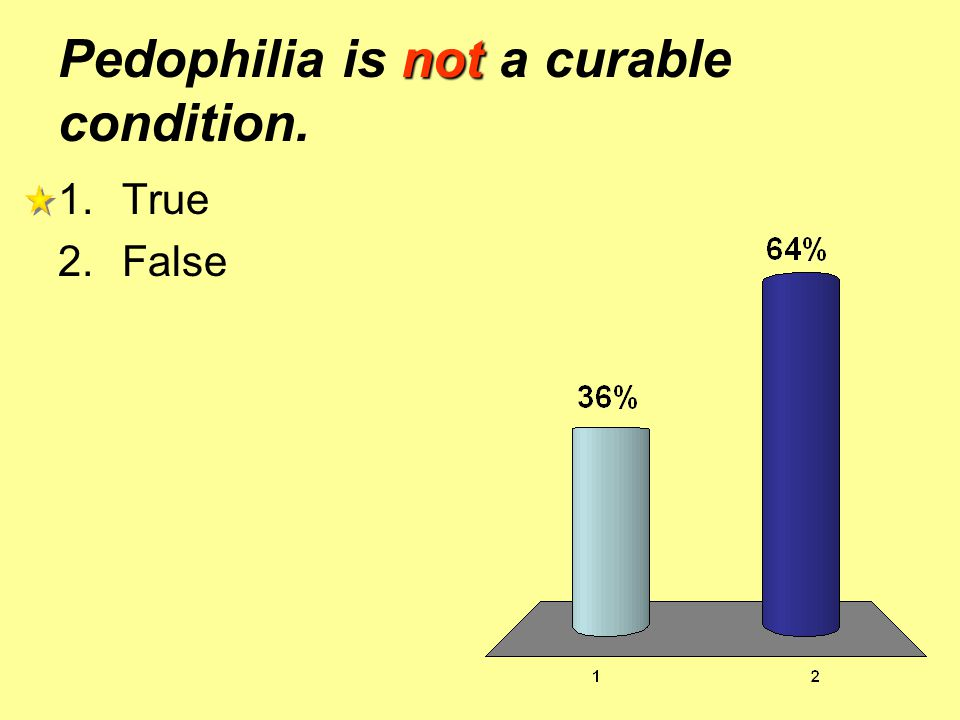 Pedophilia is not a curable condition.