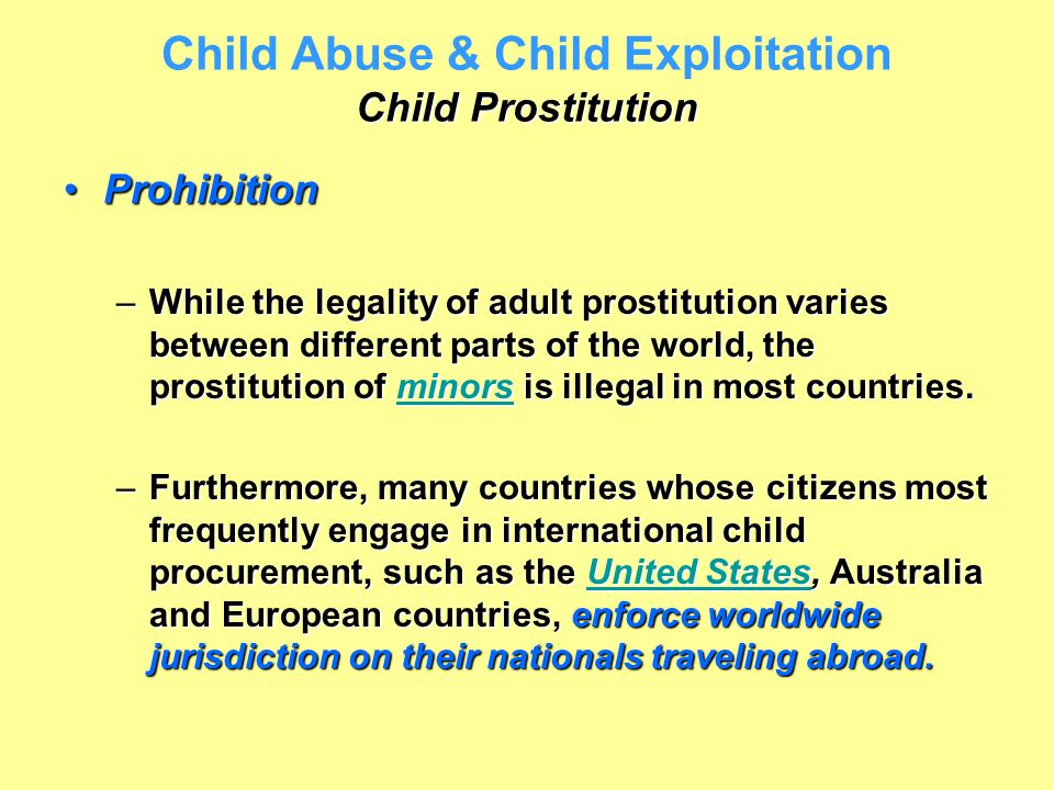 child prostitution in australia essay