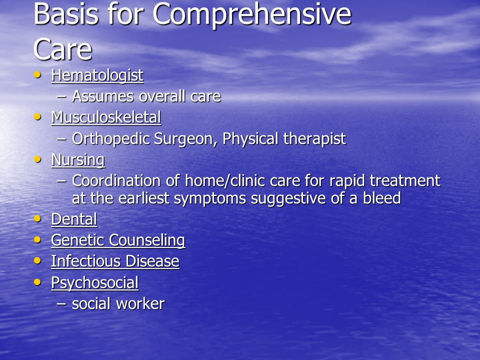 Basis for Comprehensive Care