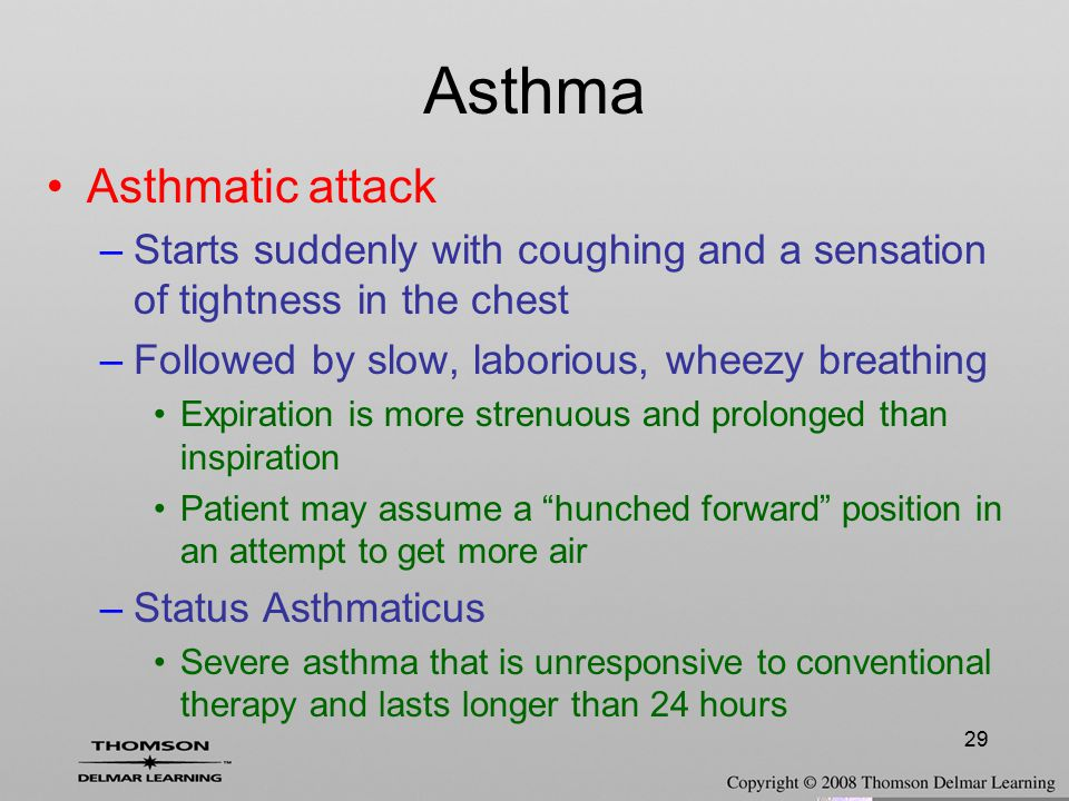 Asthma Asthmatic attack