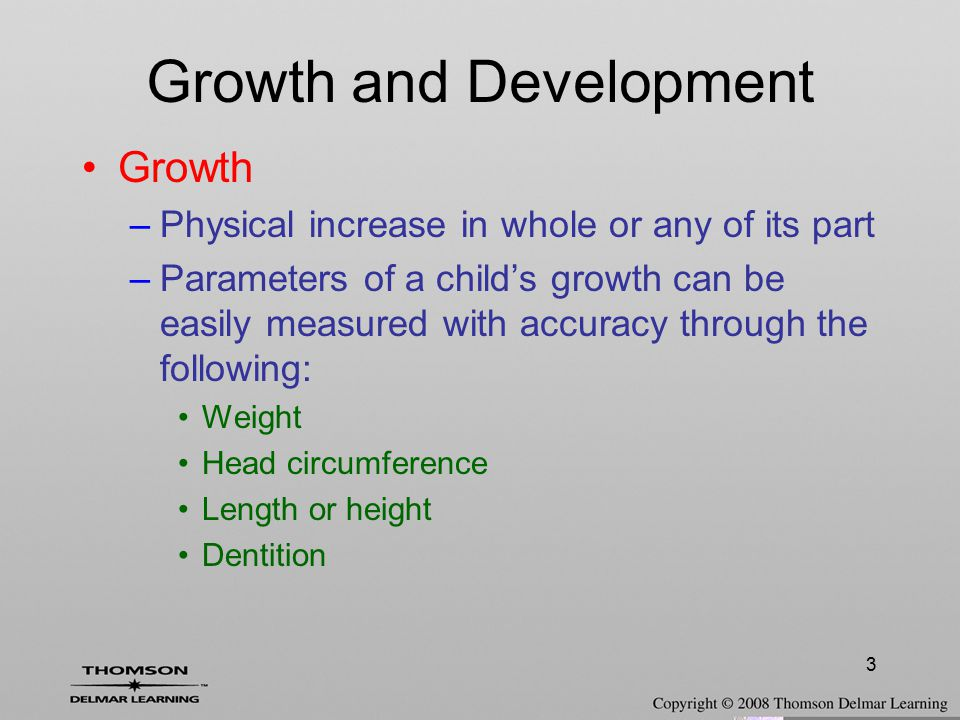 Growth and Development