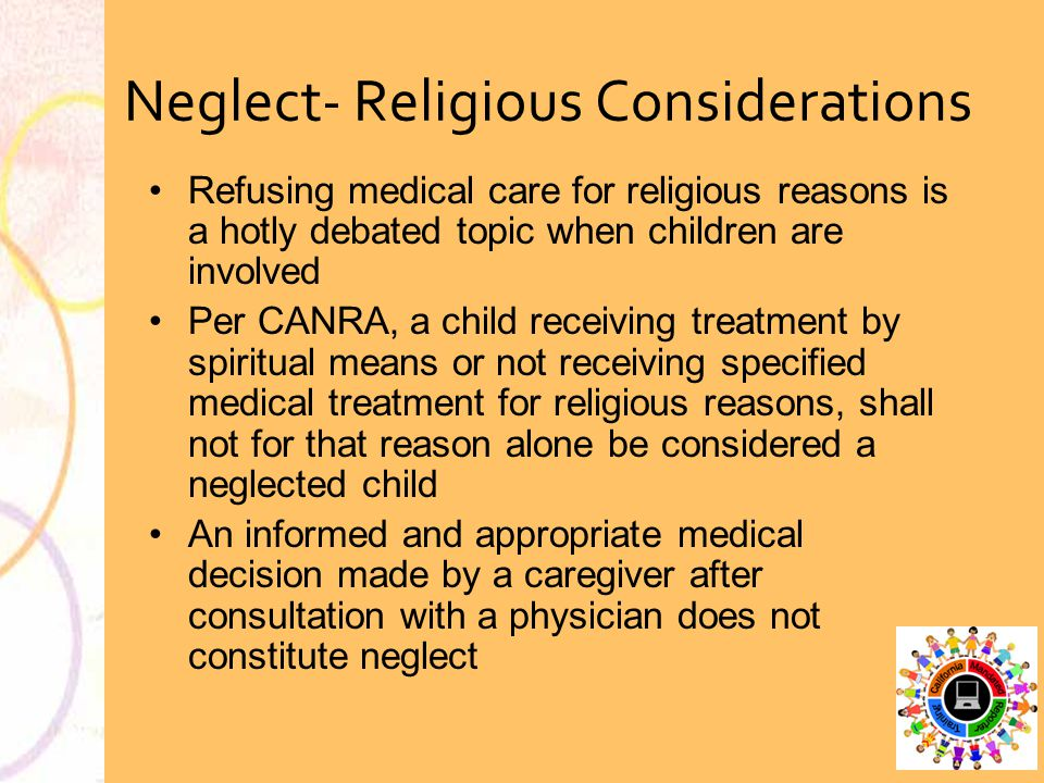 Neglect- Religious Considerations