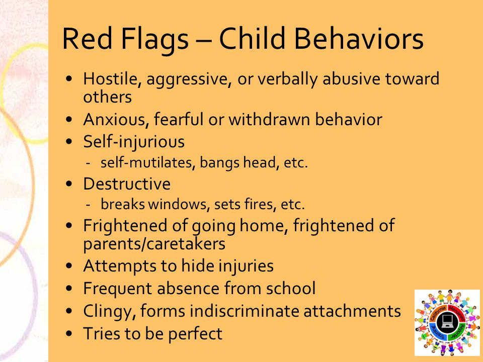 Red Flags – Child Behaviors