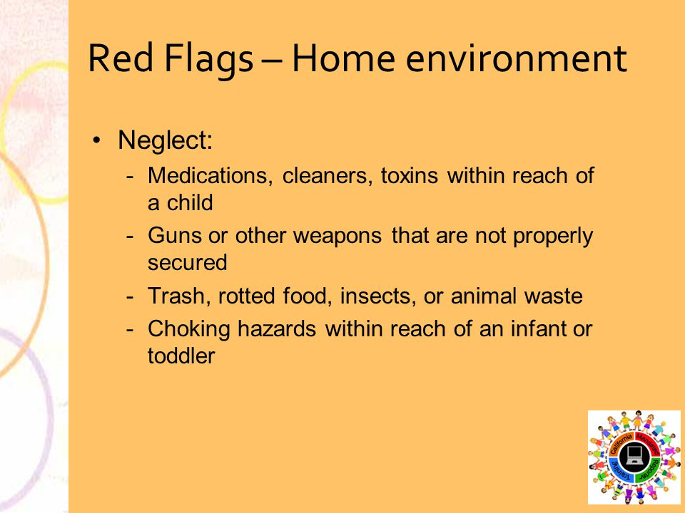 Red Flags – Home environment