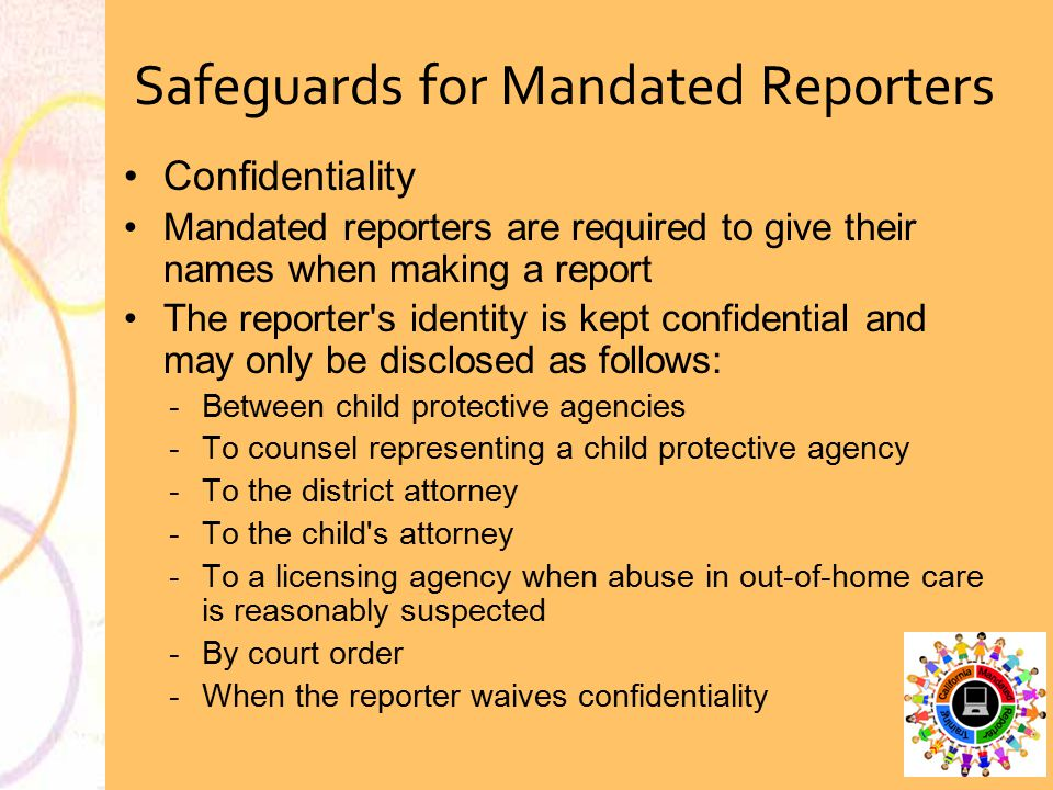 Safeguards for Mandated Reporters