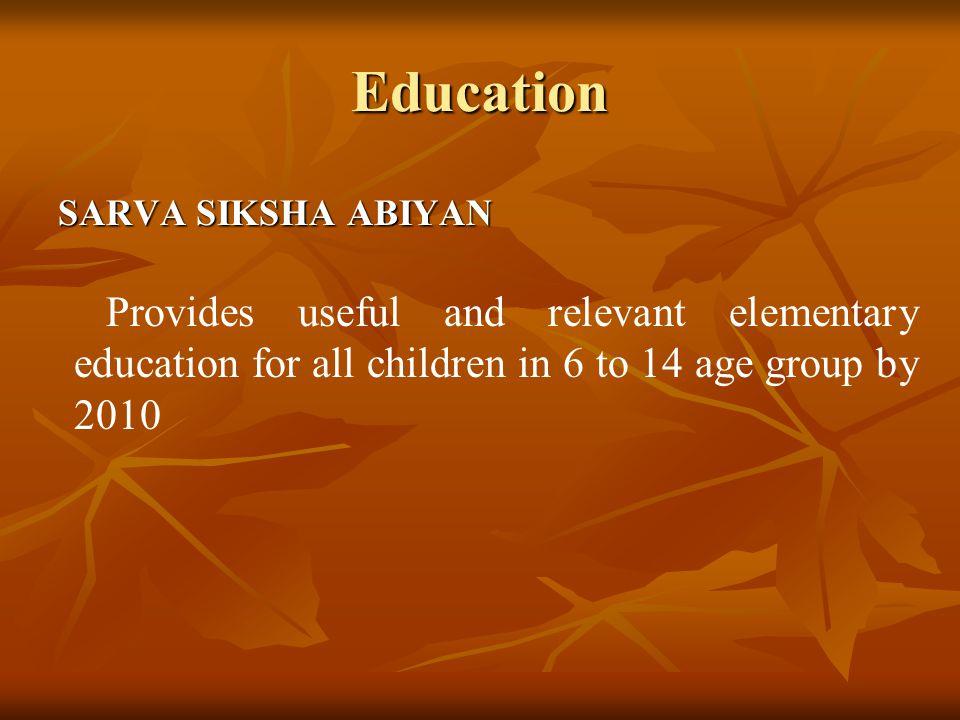 Education SARVA SIKSHA ABIYAN.