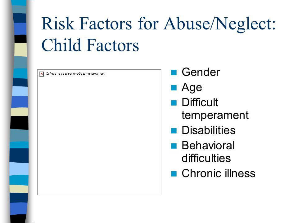 Risk Factors for Abuse/Neglect: Child Factors
