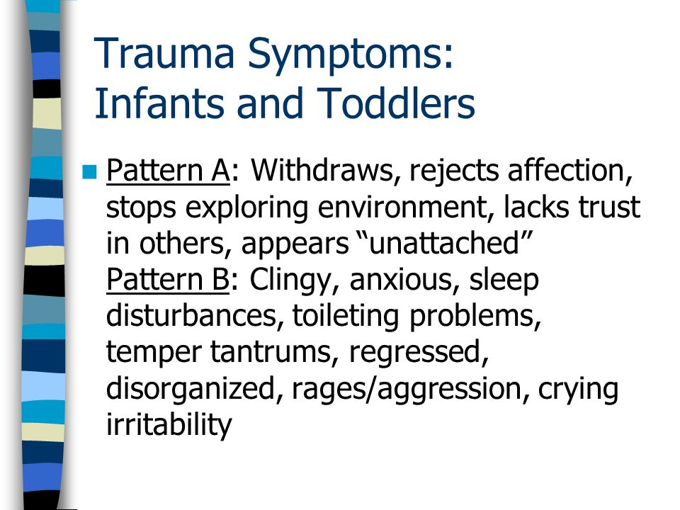 Trauma Symptoms: Infants and Toddlers