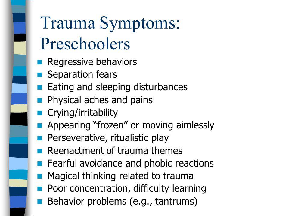 Trauma Symptoms: Preschoolers