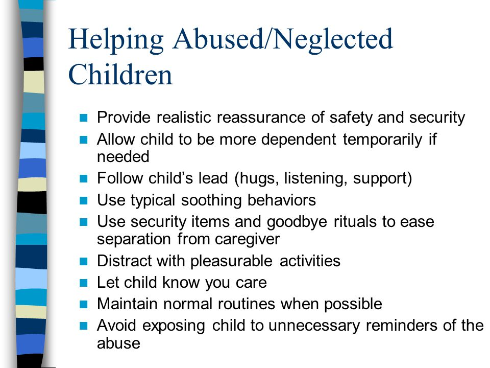 Helping Abused/Neglected Children