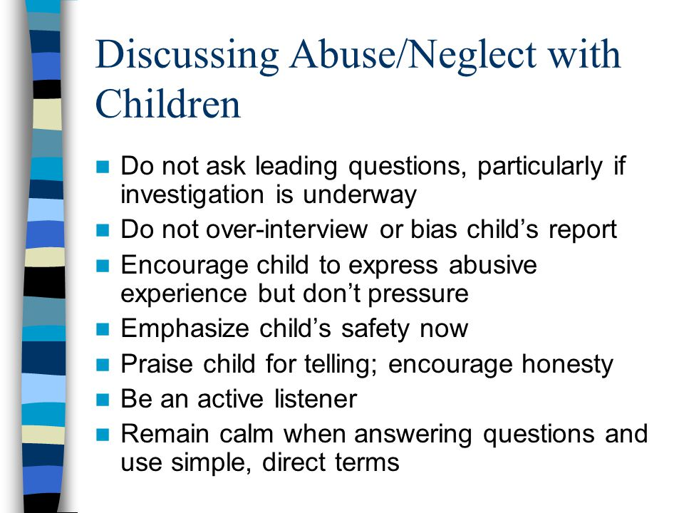 Discussing Abuse/Neglect with Children