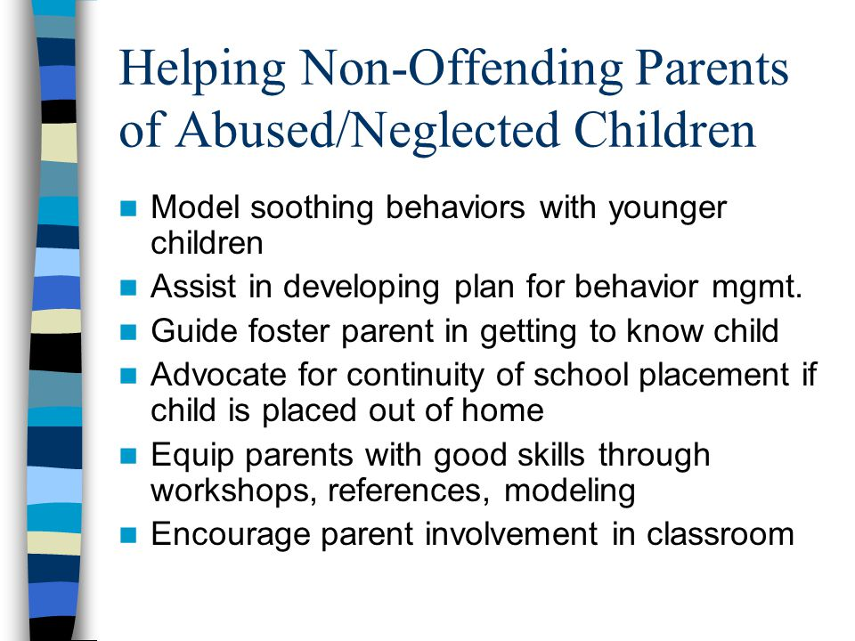Helping Non-Offending Parents of Abused/Neglected Children
