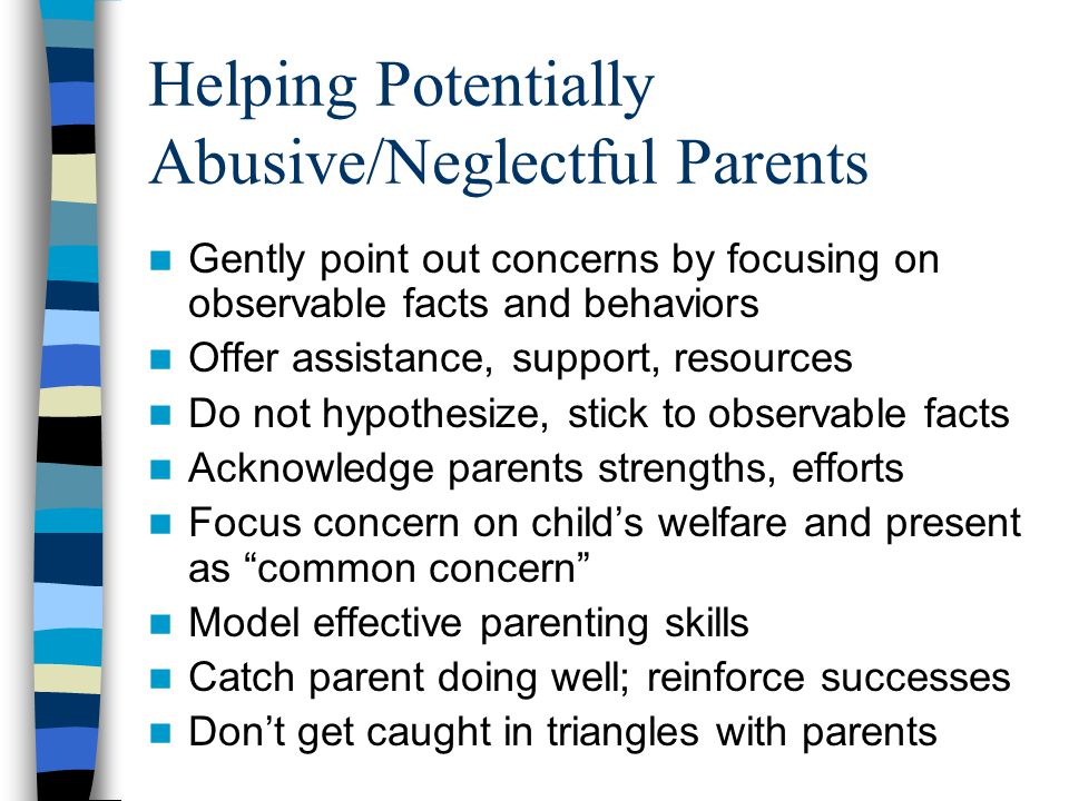 Helping Potentially Abusive/Neglectful Parents