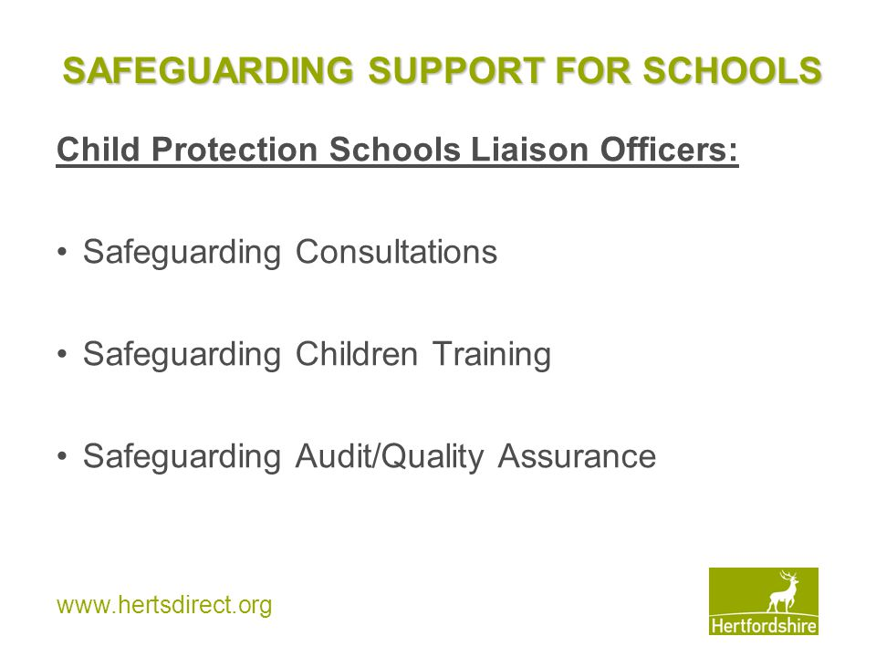 SAFEGUARDING SUPPORT FOR SCHOOLS