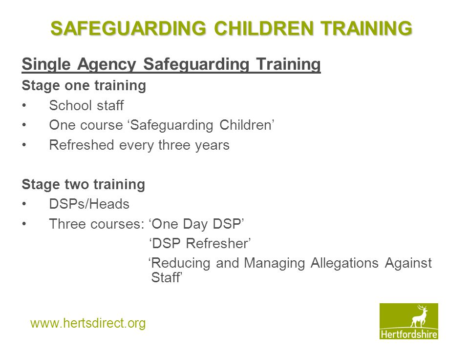 SAFEGUARDING CHILDREN TRAINING