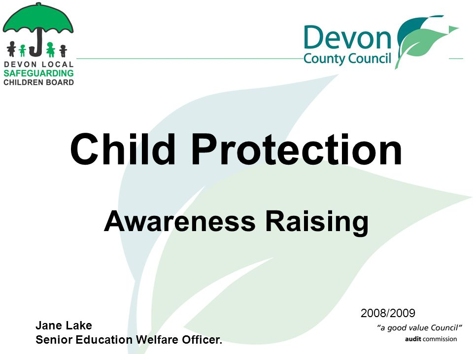 Child Protection Awareness Raising 2008/2009 Jane Lake