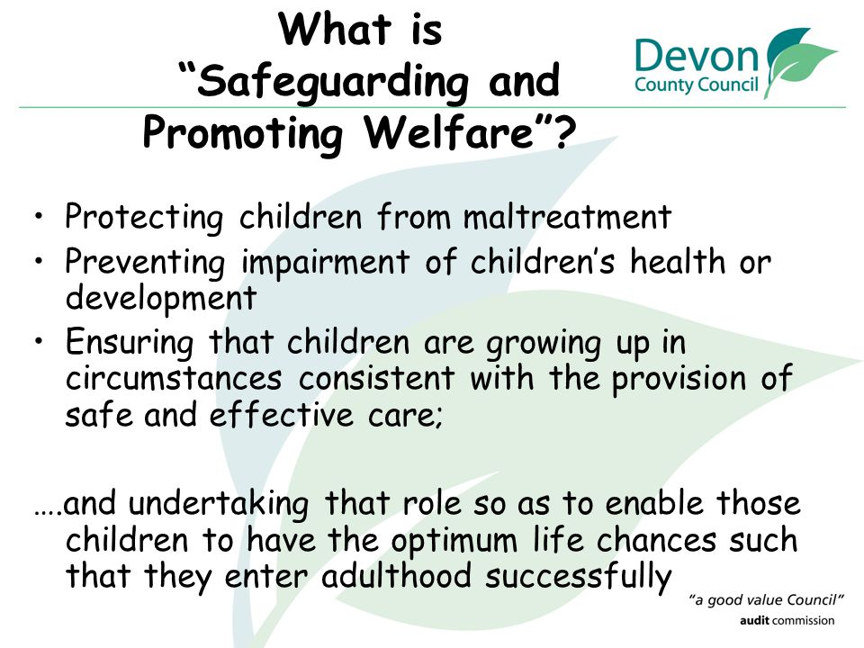 What is Safeguarding and Promoting Welfare