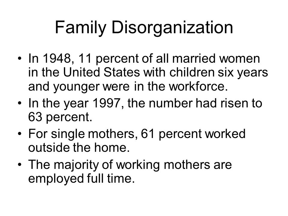 Family Disorganization