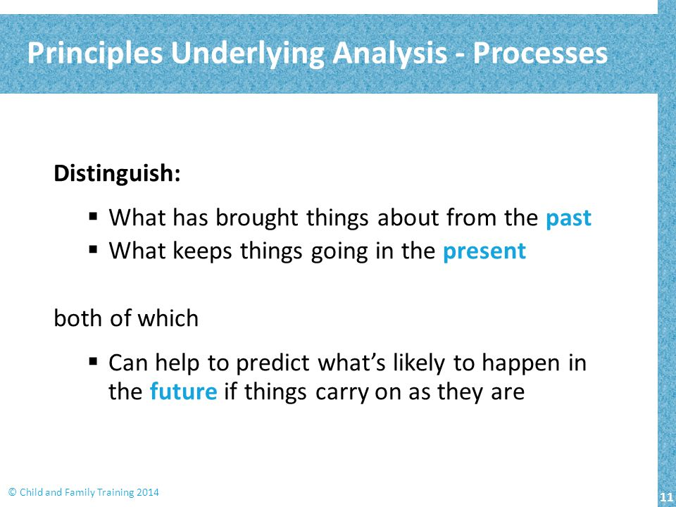 Principles Underlying Analysis - Processes