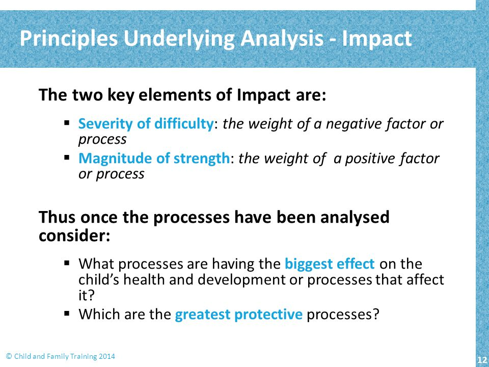 Principles Underlying Analysis - Impact