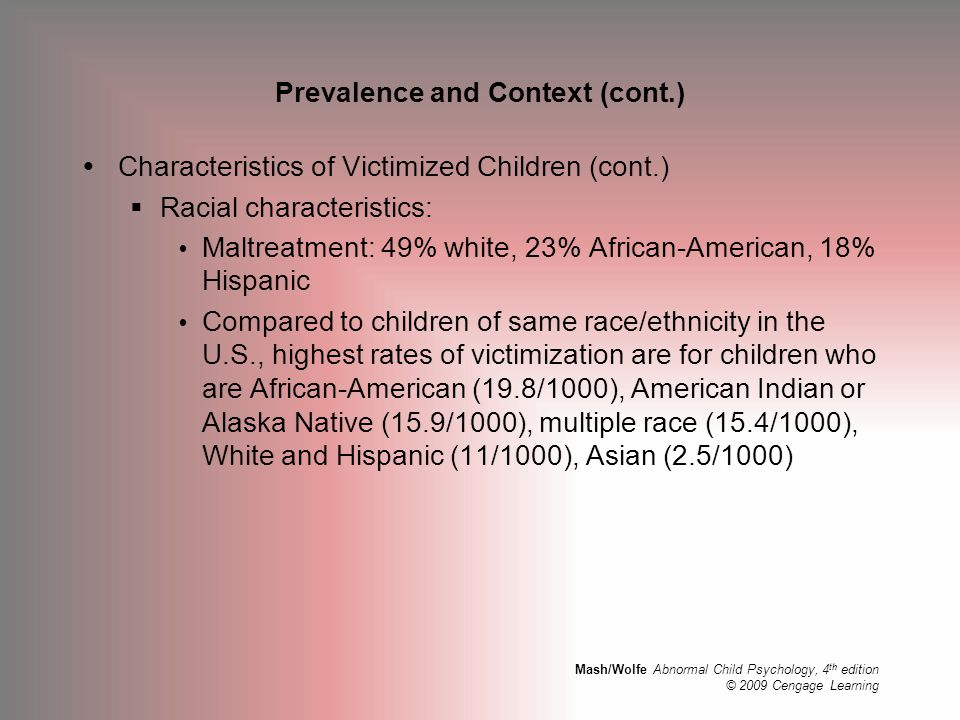 Prevalence and Context (cont.)