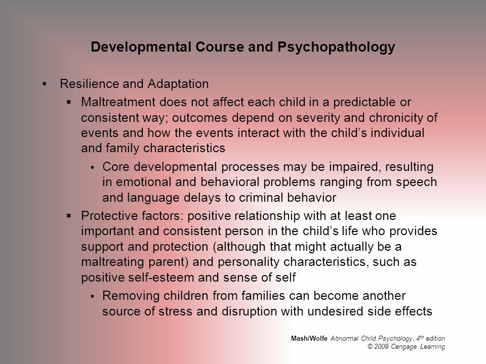 Developmental Course and Psychopathology