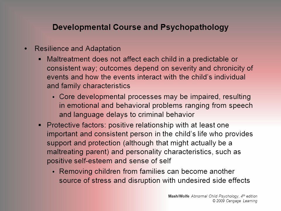Developmental Course and Psychopathology