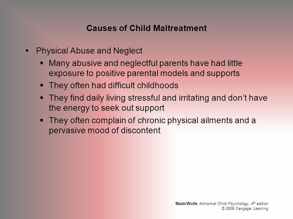 Causes of Child Maltreatment