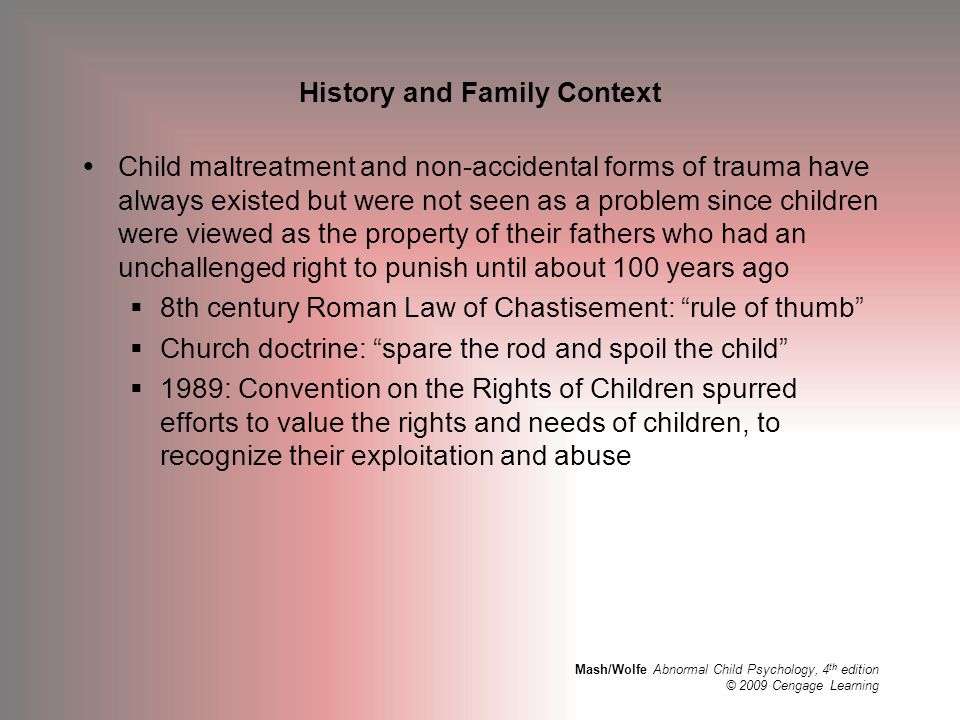 History and Family Context