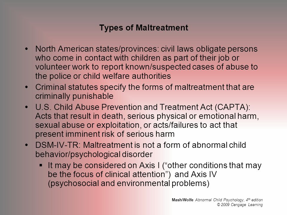 Types of Maltreatment