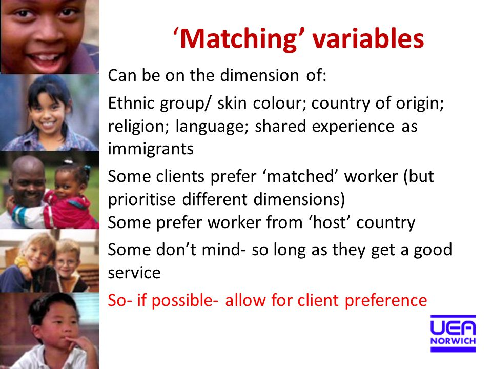 'Matching' variables