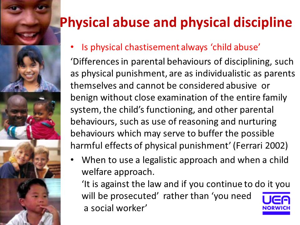 Physical abuse and physical discipline