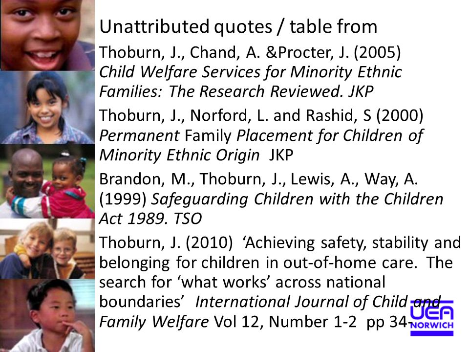 Unattributed quotes / table from