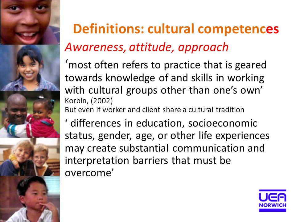 Definitions: cultural competences
