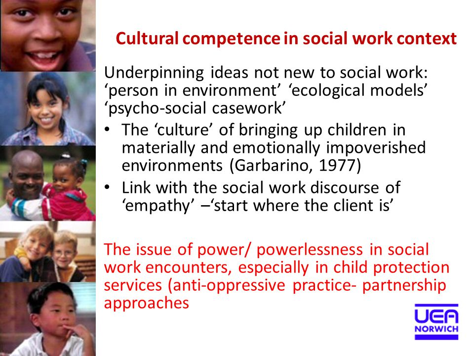 Cultural competence in social work context