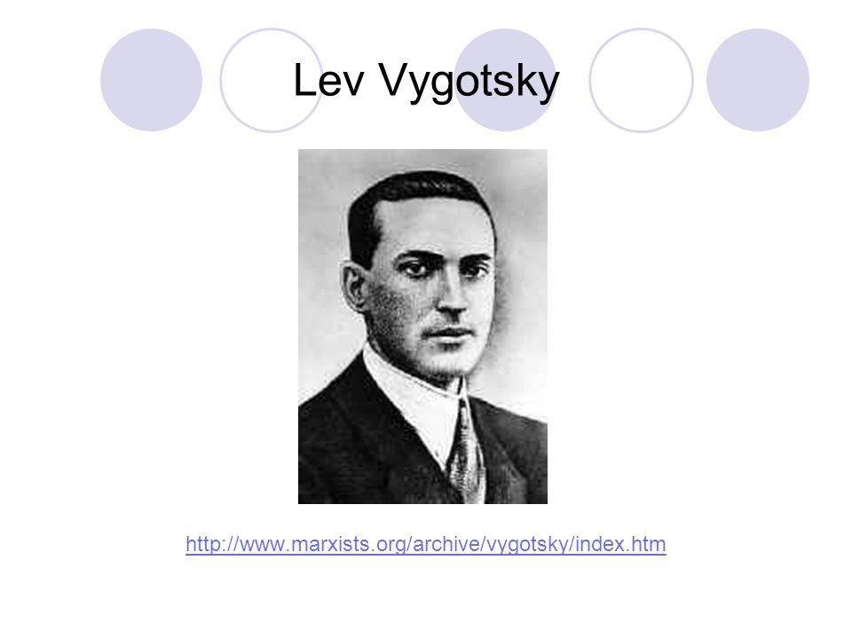 Lev Vygotsky http://www.marxists.org/archive/vygotsky/index.htm