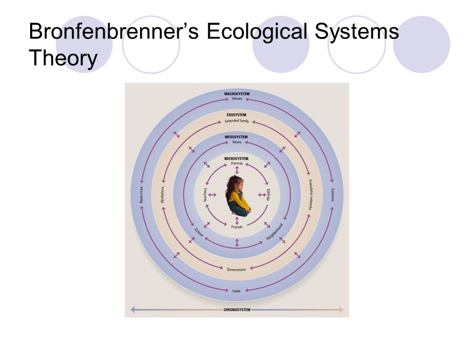 the effects of bronfenbrenner's ecological theory Bronfenbrenner's ecological model/effects between child and environment: bronfenbrenner's ecological system theory, which according to cynthia lightfoot.