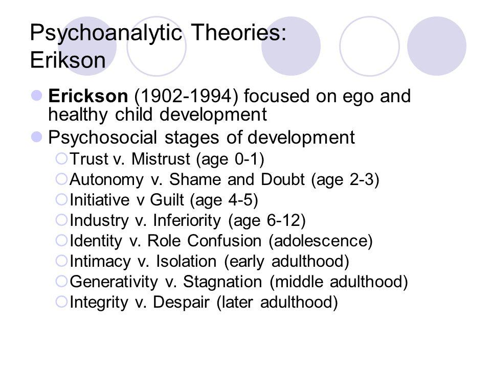 Psychoanalytic Theories: Erikson