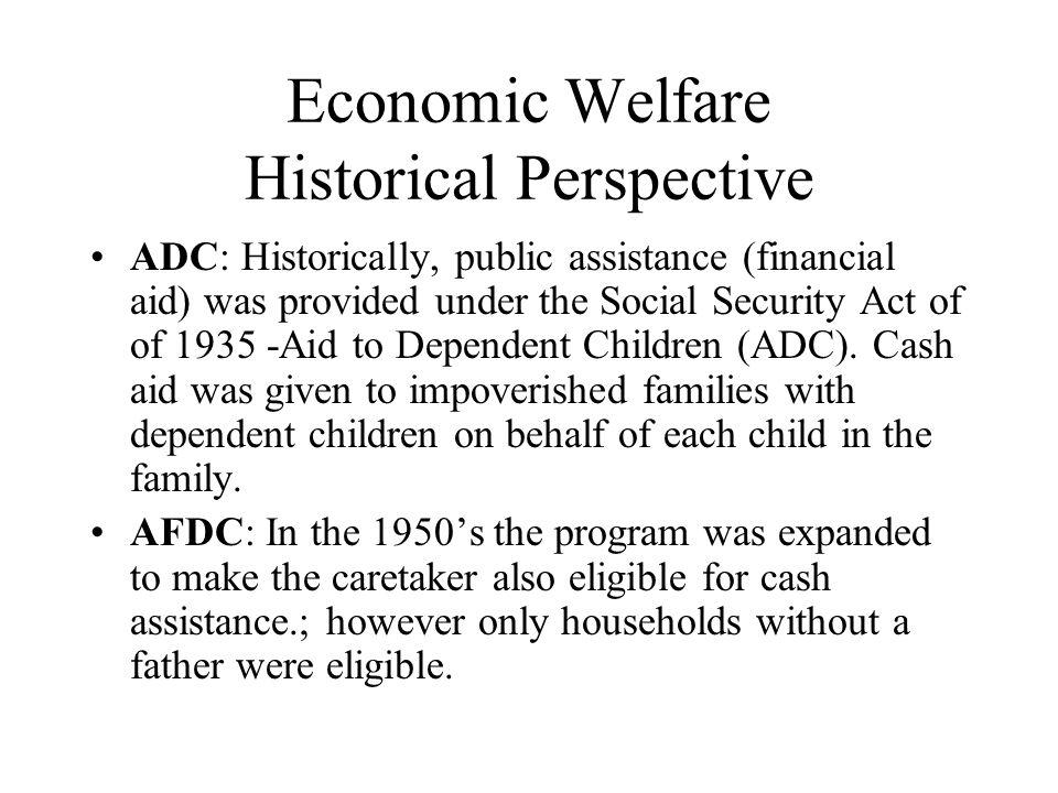 Economic Welfare Historical Perspective