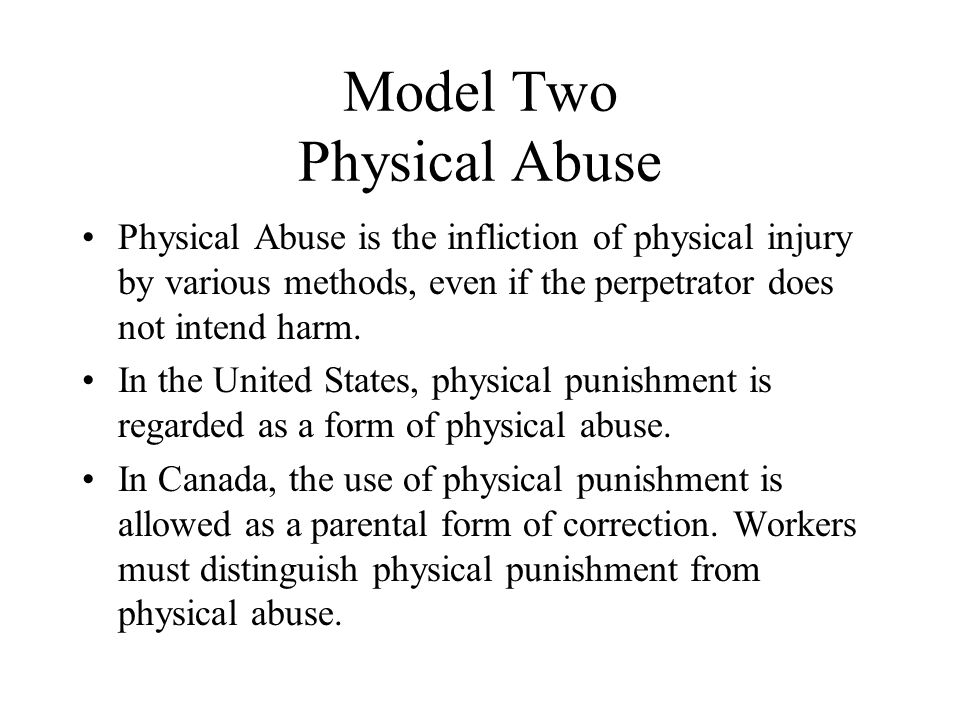 Model Two Physical Abuse