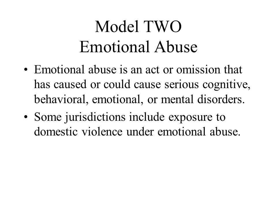 Model TWO Emotional Abuse