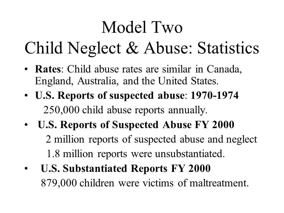 Model Two Child Neglect & Abuse: Statistics