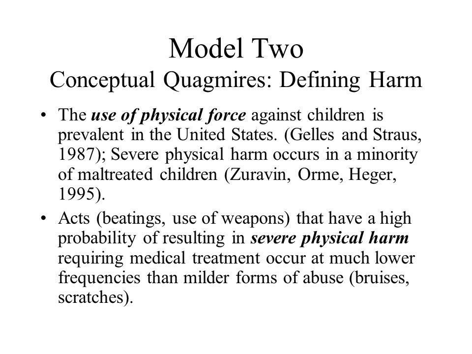 Model Two Conceptual Quagmires: Defining Harm