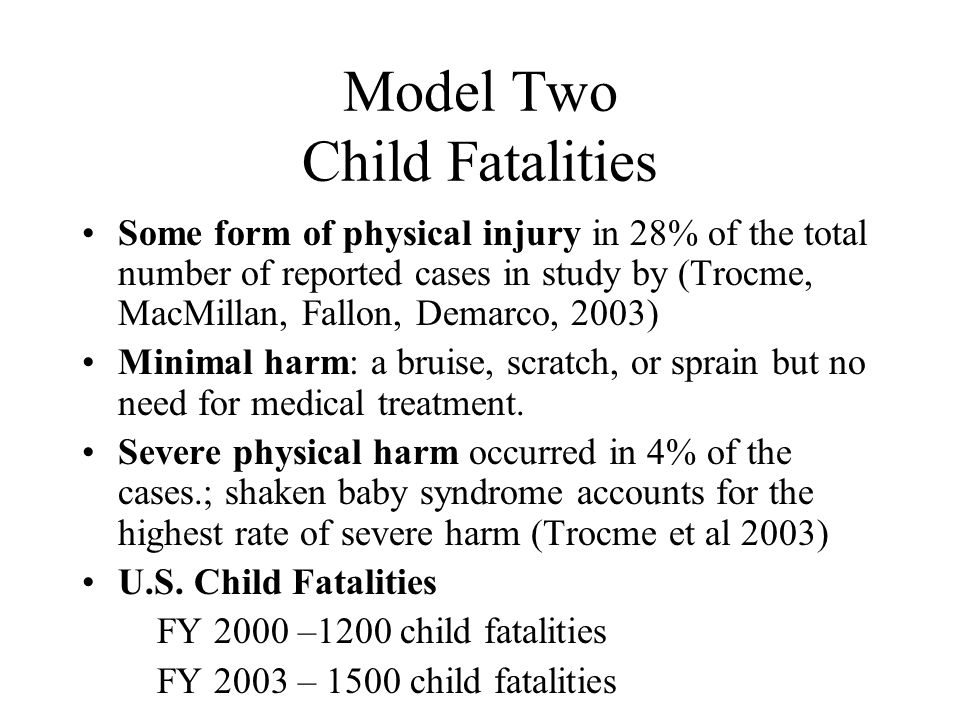 Model Two Child Fatalities