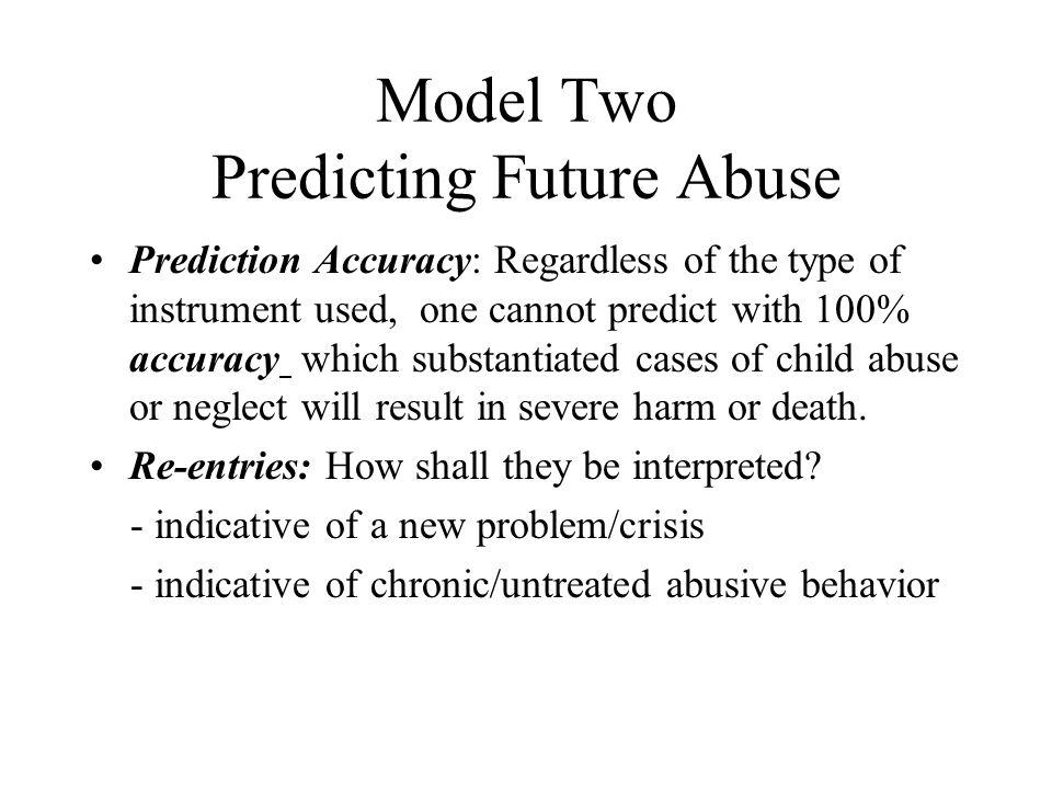 Model Two Predicting Future Abuse